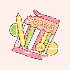 Cute Food Drawings, Cute Kawaii Drawings, Kawaii Art, Easy Drawings, Stickers Kawaii, Cute Stickers, Kawaii Doodles, Cute Doodles, Japon Illustration