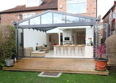 [ Open Plan Conservatory Extension Open Plan Conservatory Extension Modern Bistro Style Kitchen Extension Kitchen Extensions ] - Best Free Home Design Idea & Inspiration Orangerie Extension, Extension Veranda, Conservatory Extension, Conservatory Kitchen, Glass Extension, Rear Extension, Extension Ideas, Extension Google, Modern Conservatory