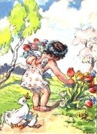 Marie Fosherová e a sua Arte II - Marie Fisherová Kveshova and Her Art II Vintage Children, Drawing, Retro, Painting, Tulips, Angels, Easter, Friends, Animals