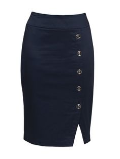 Review Australia   Carrington Skirt Midnight. Own it. Love it. The buttons add some subtle flair to a lovely pencil skirt.