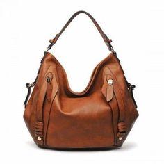 URBAN EXPRESSIONS HIGHLAND Handbag in Cognac Faux Leather