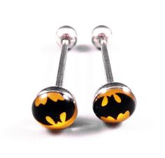 316L Stainless Steel Batman Tongue Ring $2.68