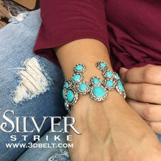 New squash blossom bracelet to our Silver Strike line of jewelry.