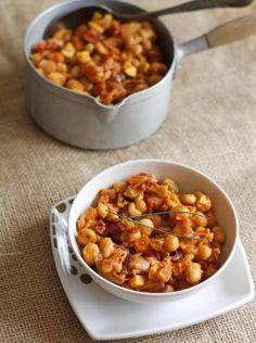 Curry de haricots coco à la tomate
