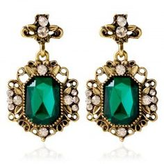 SHARE & Get it FREE | Pair of Vintage Rhinestone Embellished Geometric Earrings For WomenFor Fashion Lovers only:80,000+ Items • FREE SHIPPING Join Twinkledeals: Get YOUR $50 NOW!