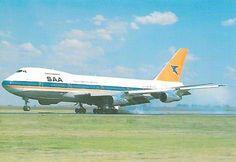 SAA 747-200 Landing 747 Airplane, South African Air Force, Jumbo Jet, Passenger Aircraft, Boeing 747, Jets, Airplanes, Landing, Aviation