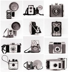 Vintage Camera Collection Retro Photo Set by ShadetreePhotography