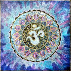 Mandala Om - Painting,  90x90 cm ©2013 by Agnieszka Szalabska -  Painting, Acrylic