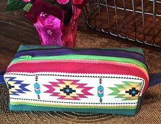 Square Boxy Zipper Bag Makeup Cosmetic Bag Cosmetic Makeup Organizer Makeup Cosmetic Organizer Aztec Square Boxy Makeup Organizer Bag by lily4carol on Etsy