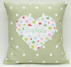 Personalised Cushion With Star Heart