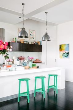 These emerald Jardan stools need to SHUT UP AND GET IN MY KITCHEN! www.jardan.com.au/furniture