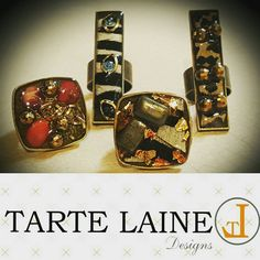 TarteLaine Clusters Beaded handmade resin rings by TARTELAINEDesigns on Etsy. Adjustable, comfortable, and fun!