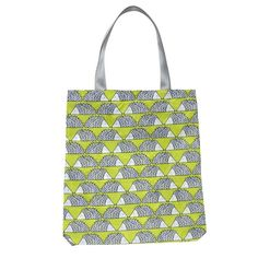Reusable Shopping Bag in Lime Green 'Spike The Hedgehog' Design from Scion Living