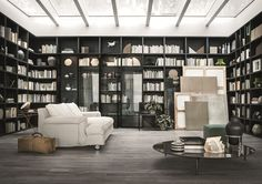 SELECTA - Designer Wall storage systems from LEMA ✓ all information ✓ high-resolution images ✓ CADs ✓ catalogues ✓ contact information ✓ find. Bookcase Wall, Bookshelves, Armoire Design, Wall Storage Systems, Storage Shelving, Storage Units, Mad About The House, Interior Architecture, Interior Design