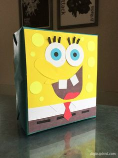 Spongebob Squarepants Gift Wrapping and Paper Craft Idea