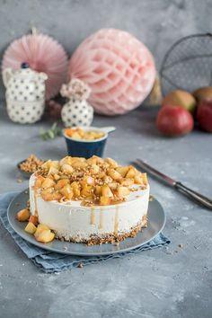 Zimt-Panna-Cotta-Torte mit Bratapfel ⋆ Knusperstübchen
