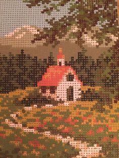 Needlepoint Kit Kirche im Sommer Wool Yarn 8 x 10 Cotton Canvas West Germany Vtg #Unbranded