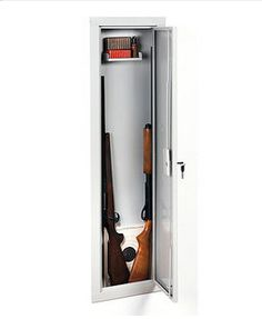In-wall Long Gun Storage Cabinet