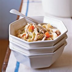 Chicken-Vegetable Soup | MyRecipes.com #myplate #protein #grain #vegetable
