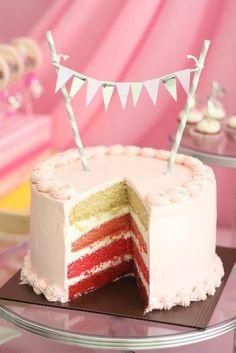 Cutie girlie or spring celebration cake and goodies