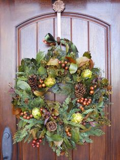 Add a touch of fall to your front door with this easy-to-create wreath, perfect for welcoming Thanksgiving guests to your home.