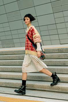 Seoul Fashion, Korean Street Fashion, Harajuku Fashion, Japan Fashion, Look Fashion, Fashion Outfits, Womens Fashion, Classy Fashion, Fashion Vintage