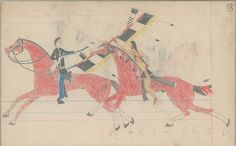Collections Search Center, Smithsonian Institution. Anonymous Cheyenne Drawing, 1880. ))))