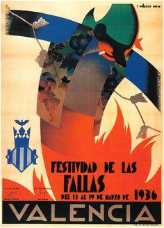 Festividad de las fallas, Valencia 1936 - Vicente Ballester Marco