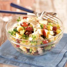 Omena-juustosalaatti Cilantro, Quinoa, Feta, Baking Recipes, Healthy Recipes, Healthy Food, Salad Recipes Video, Paleo, Superfood