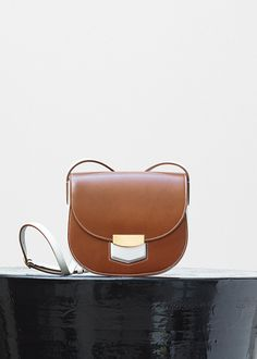 39c7ac800c Small Trotteur Bag in Calfskin and Lambskin Lining - Céline