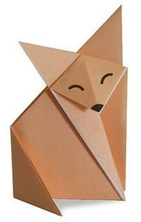 moltissimi tutorial Origami fox via Origami Club.