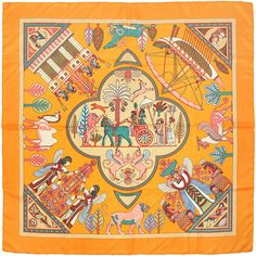 Persepolis by Sophie Koechlin Hermès Silk Scarf: Shades of Orange | Vintage Carré | @vintagecarre | www.vintagecarre.com