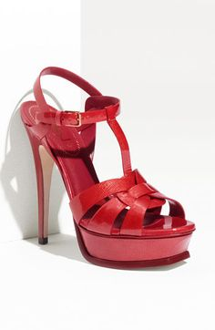YSL please make the Poppy Tribute in a lower heel, but WITH the t-strap. Please and thank you!