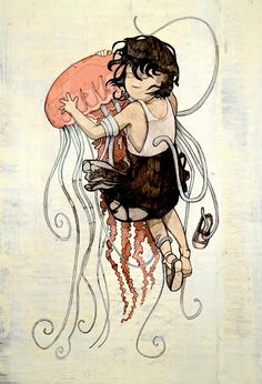 Cute jellyfish image, but in reality, quite painful!