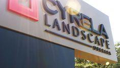 CYRELA LANDSCAPE UBERABA | Totem confeccionado em alumínio estruturado internamente e marca em letra-caixa.