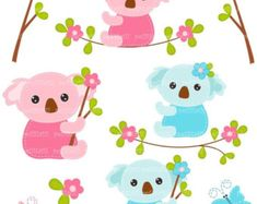 ON SALE Koala clip art Digital clip art for all use by petittatti