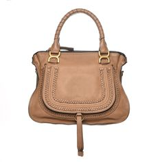 988d5b4c932 This is an authentic CHLOE Calfskin Medium Braided Marcie Satchel in Nut.  This stylish satchel is crafted of luxurious calfskin leather in brown.