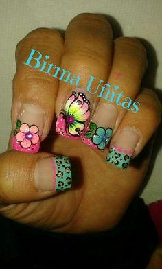 Fingernail Designs, Toe Nail Designs, Spring Nails, Summer Nails, Rodeo Nails, Magic Nails, Butterfly Nail, Nail Art Stickers, Mani Pedi