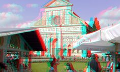 https://flic.kr/p/MQUMBE | Piazza Santa Maria Novelle Florence 3D | anaglyph stereo red/cyan