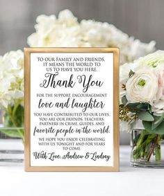 Thank friends and family for celebrating with you on your wedding day with this sweet script print featuring a personal touch.Shipping note: This item will be personalized just for you. Allow extra time for your special find to ship. Wedding Signs, Diy Wedding, Wedding Favors, Wedding Day, Casual Wedding, Wedding Stuff, Wedding Tokens, Dream Wedding, Wedding Invitations