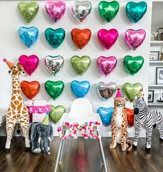 Party Animals 🦒🦓🐘🥳 Not only are our Giant Stuffed Animals adorable, they also make great party guests! We love this birthday decor idea by @mal.corley  #partyinspiration #partydecorations #partystyling #birthdaydecoration #birthdaydecor #melissaanddoug #kidsbirthday Party Animals, Animal Party, Cute Animals, Birthday Decorations, Birthday Party Themes, Birthday Wishes, Giant Stuffed Animals, The Ultimate Gift, Party Guests