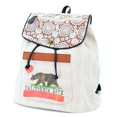 California Love Drawstring Fashion Backpack from California Republic Clothes