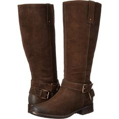 Clarks Plaza Steer Women's Boots, Brown (6.115 RUB) ❤ liked on Polyvore featuring shoes, boots, knee-high boots, clarks boots, side zip boots, long knee boots, brown boots y long shoes