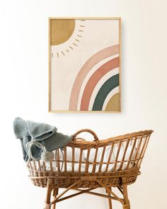 This charming boho rainbow print will serve perfec Boho Nursery, Nursery Wall Art, Nursery Decor, Bedroom Decor, Girl Wall Art, Blush Nursery, Playroom Art, Kids Room Art, Nursery Prints