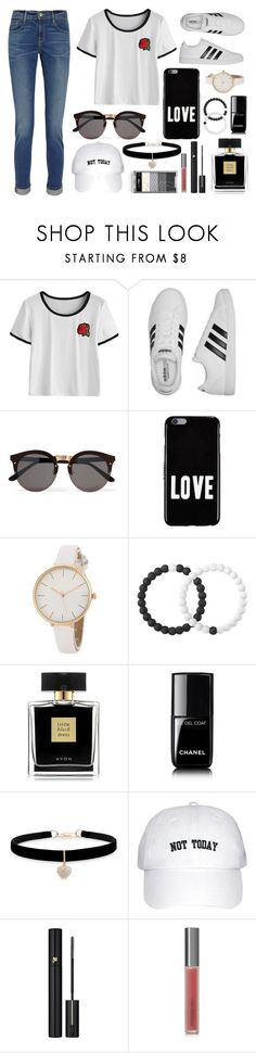 """⬛️"" by anapris132 ❤ liked on Polyvore featuring adidas, Illesteva, Givenchy, Lokai, Avon, Chanel, Betsey Johnson, Lancôme, Perricone MD and Frame"
