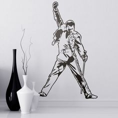 Vinilos Decorativos: Freddie Mercury #londres #decoracion #queen #TeleAdhesivo