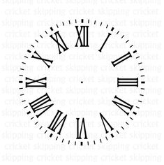 Clock face svg dxf eps cut file for Cricut Silhouette Clock Face Tattoo, Clock Tattoo Design, Monogram Alphabet, Monogram Fonts, Tattoo Linea, Name Tattoo On Hand, Clock Face Printable, Clock Template, Tattoo Templates