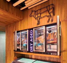 Meat shop display kitchens ideas for 2019 Meat Restaurant, Restaurant Design, Carne Asada, Cafe Pan, Butcher Store, Carnicerias Ideas, Meat Store, Smokehouse Bbq, Dry Aged Beef