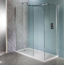 Deluxe10 800mm Wet Room Shower Screen 10mm Glass Walk-In Panel