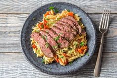 Herbed Sirloin Steak w/ Orzo (Hello Fresh)